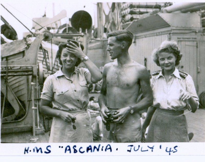 HMS Ascania July 1945 on way to Sicily