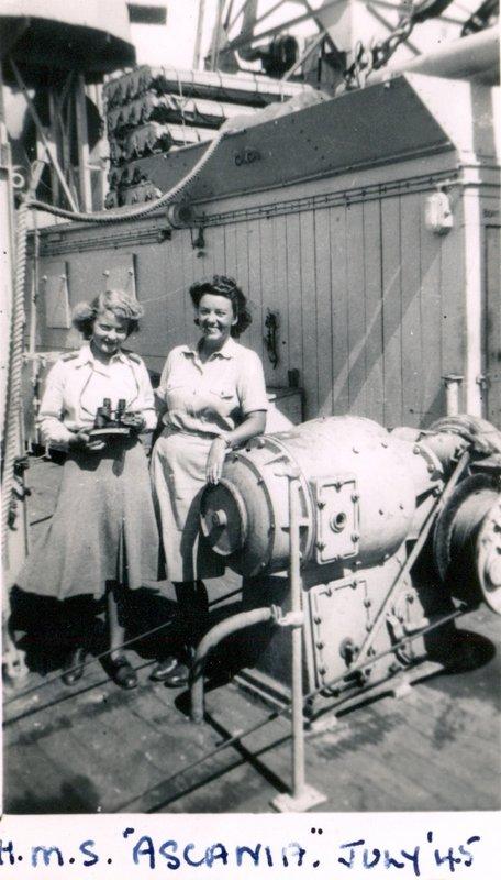 HMS Ascania July 1945